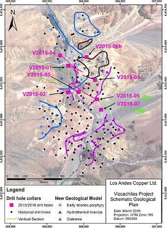 New Geological Model and 2015/2016 Drillholes